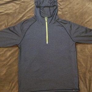 prAna Mens Breaker Hooded 1//4 Zip Shirt